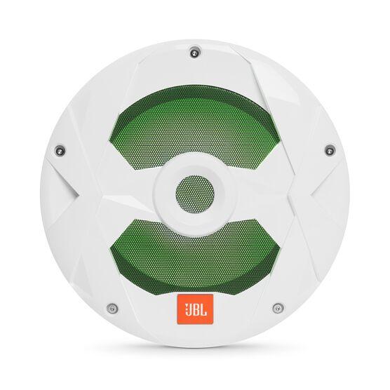 "Club Marine MS10LW - White Gloss - 10"" (250mm) marine audio subwoofer with RGB lighting – White - Detailshot 4"
