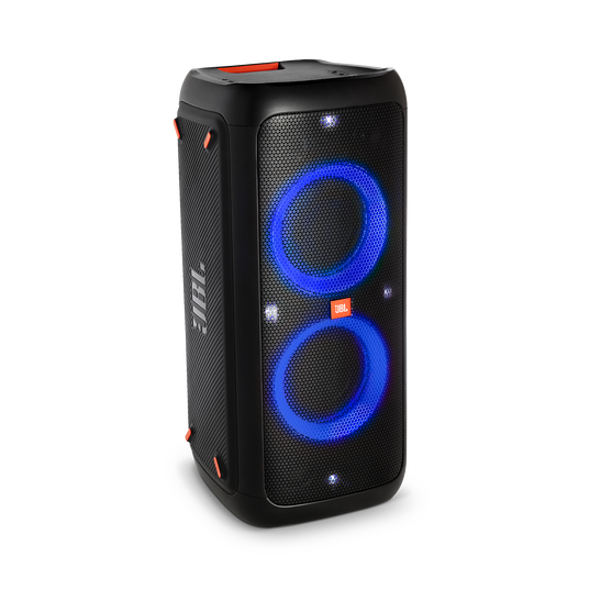 JBL PartyBox 300 - Black - Battery-powered portable Bluetooth party speaker with light effects - Hero