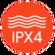 IPX4 splashproof protection