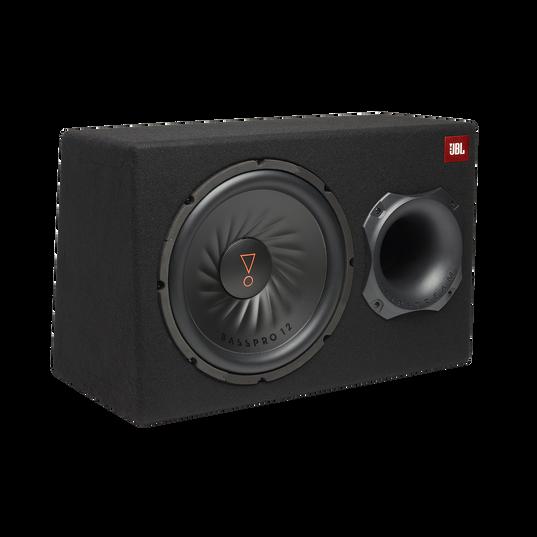 "JBL BassPro 12 - Black - 12"" (300mm) Car Audio Powered Subwoofer System with Slipstream Port Technology - Hero"