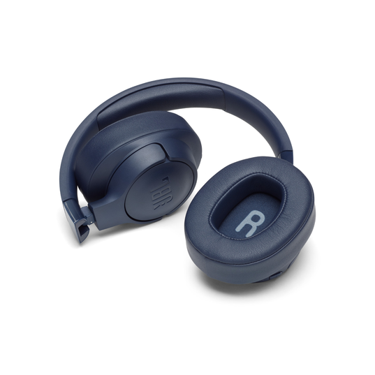 JBL TUNE 750BTNC - Blue - Wireless Over-Ear ANC Headphones - Detailshot 3