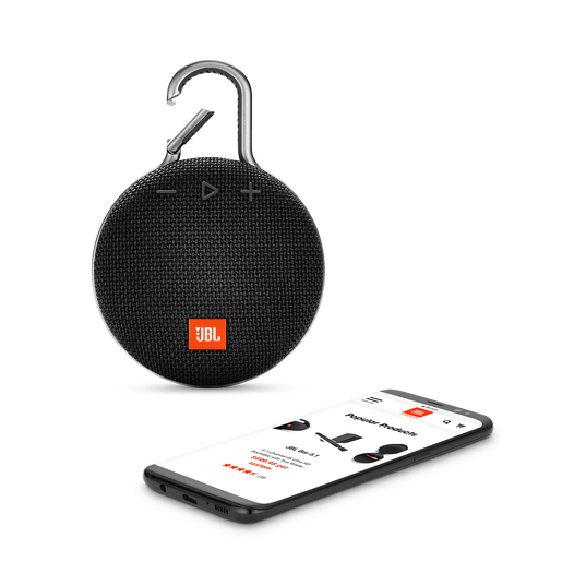 JBL CLIP 3 - Midnight Black - Portable Bluetooth® speaker - Detailshot 1