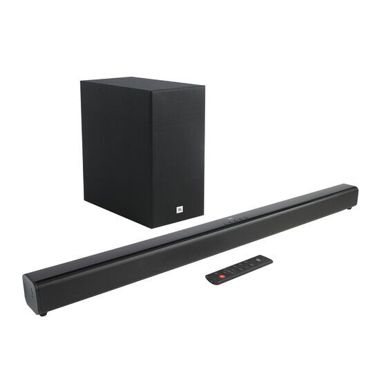 JBL Cinema SB160 - Black - 2.1 Channel soundbar with wireless subwoofer - Hero