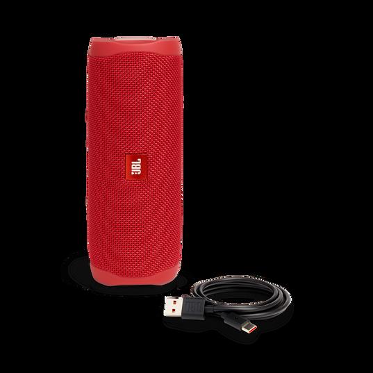 JBL FLIP 5 - Red - Portable Waterproof Speaker - Detailshot 1