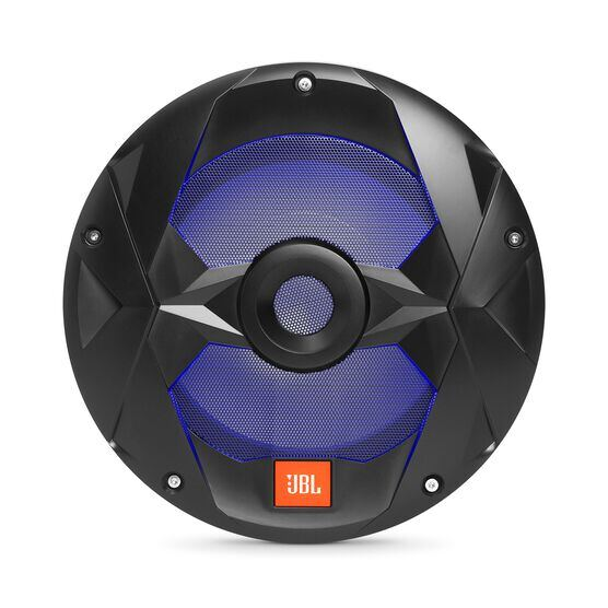"Club Marine MS10LB - Black Matte - Club Marine MS10LB—10"" (250mm) marine audio multi-element subwoofer with RGB lighting – Black - Detailshot 4"