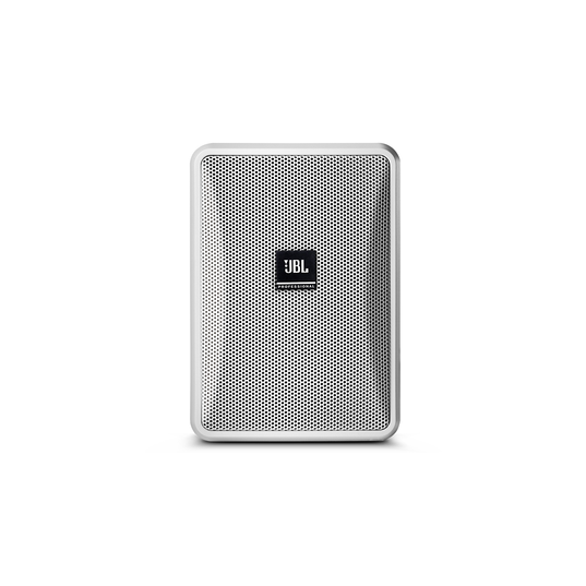 JBL Control 23-1 (Pair) - White - Ultra-Compact Indoor/Outdoor Background/Foreground Speaker - Hero