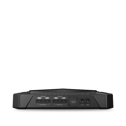 GRAND TOURING GTR 104 - Black - 100W RMS 4-Channel Stadium Series Bluetooth Car Amplifier with Clari-Fi Technology and Party Mode - Detailshot 1