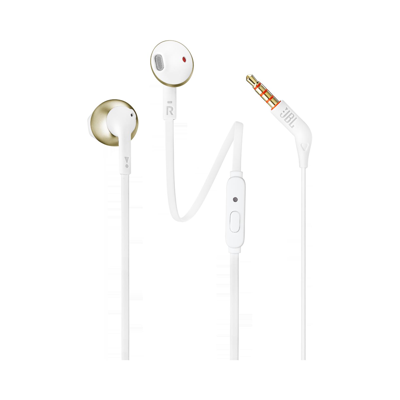 JBL TUNE 205 - Champagne Gold - Earbud headphones - Hero