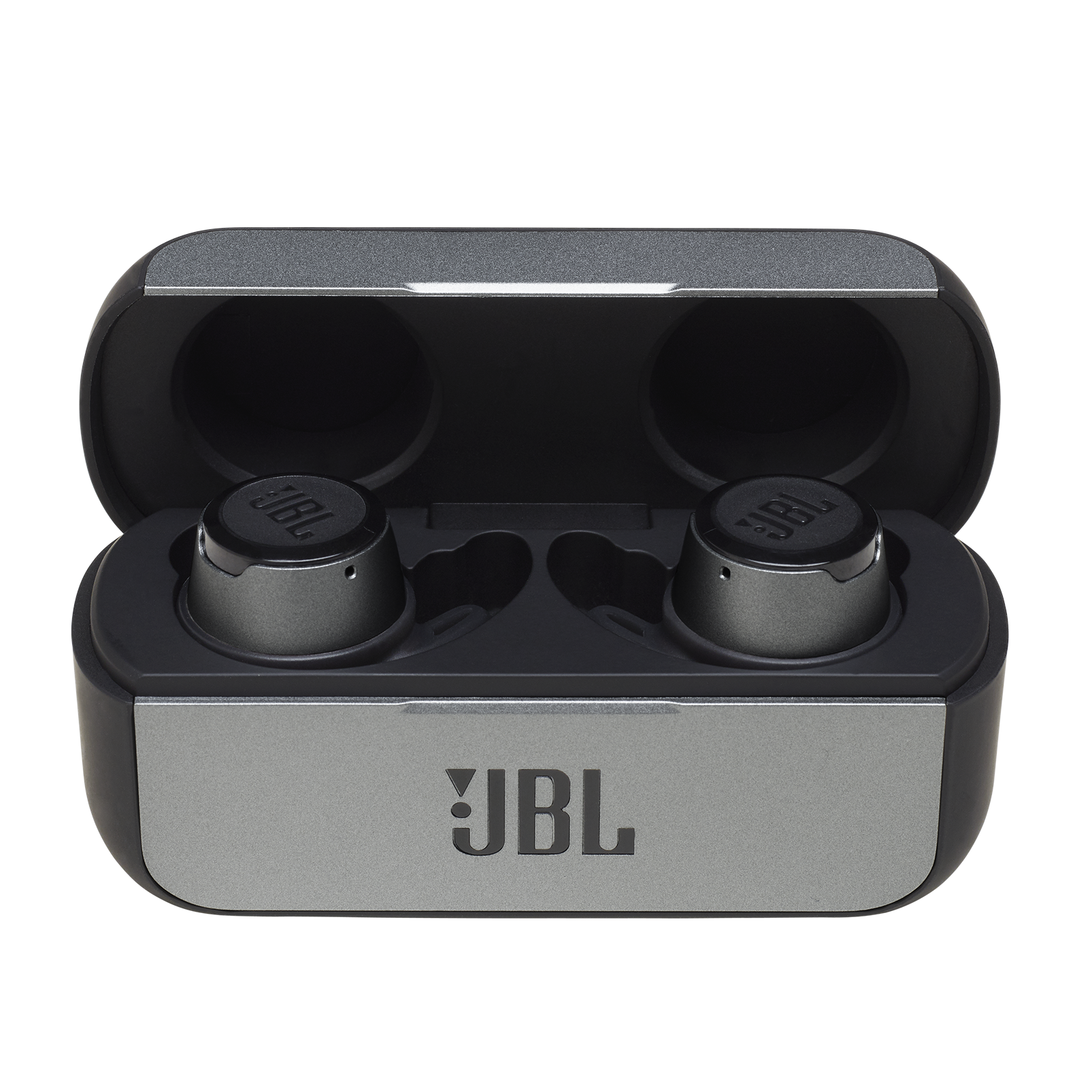 JBL Reflect Flow - Black - True wireless sport headphones. - Hero