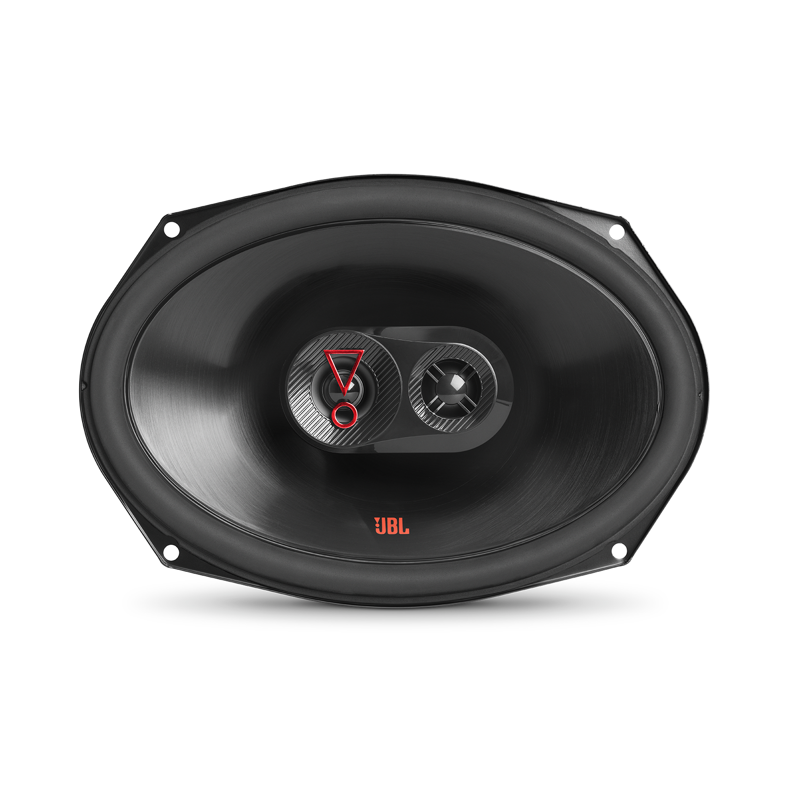 """Stage3 9637F - Black - 6"""" x9""""(152mmx230mm)  3-Way car speaker for factory upgrade without grille - Front"""