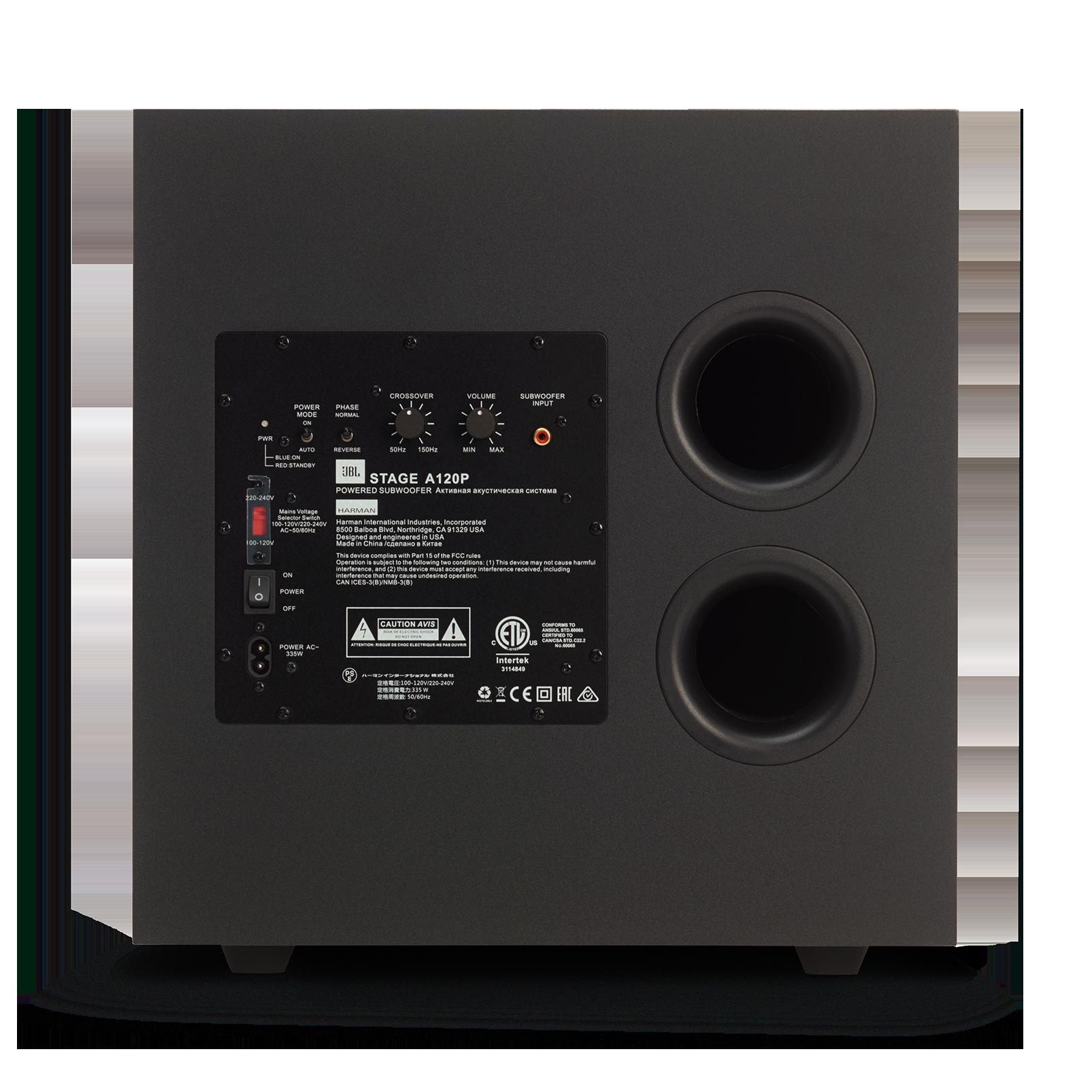 JBL Stage A120P - Black - Home Audio Loudspeaker System - Back