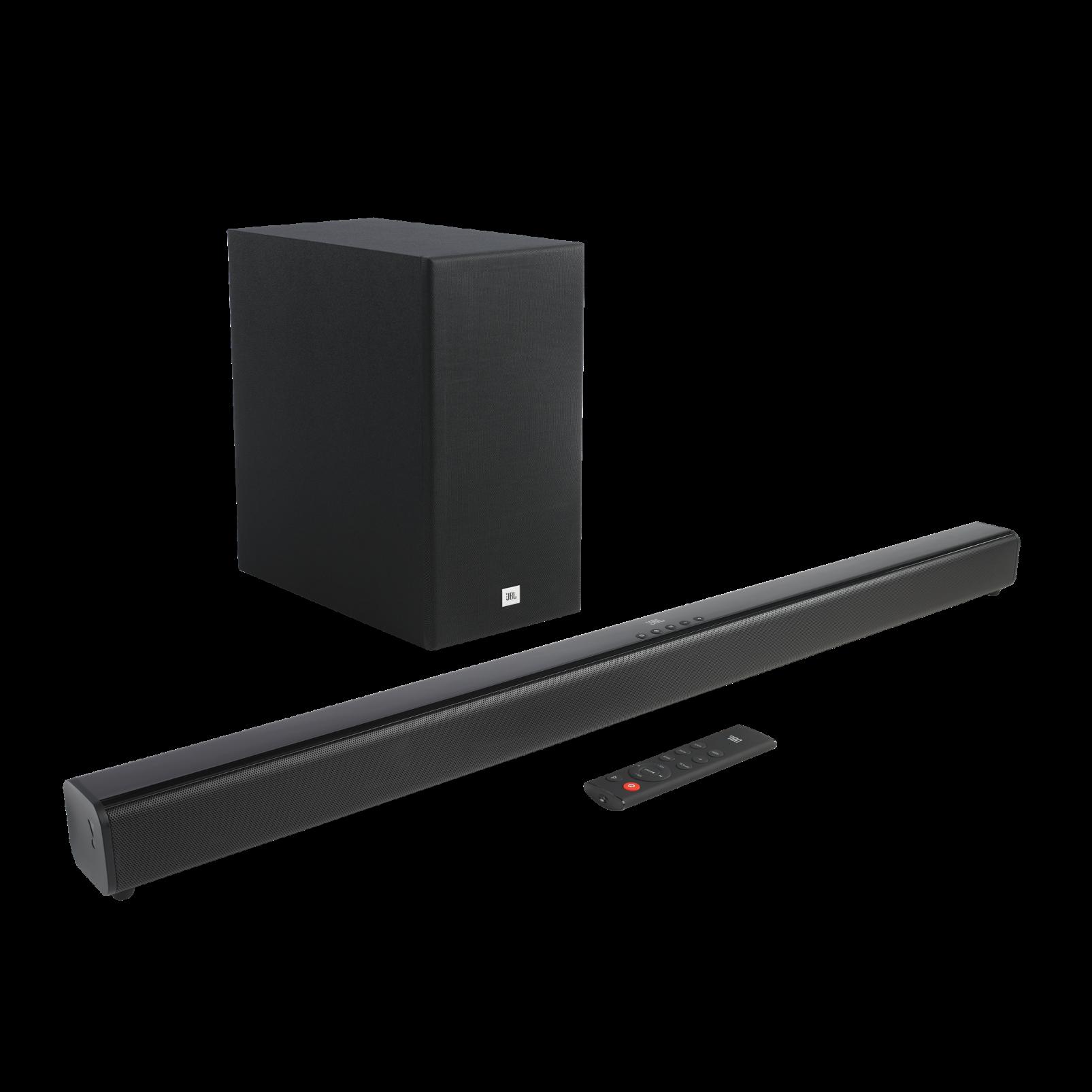 JBL Cinema SB160 - Black - 2.1 Channel soundbar with wireless subwoofer - Hero