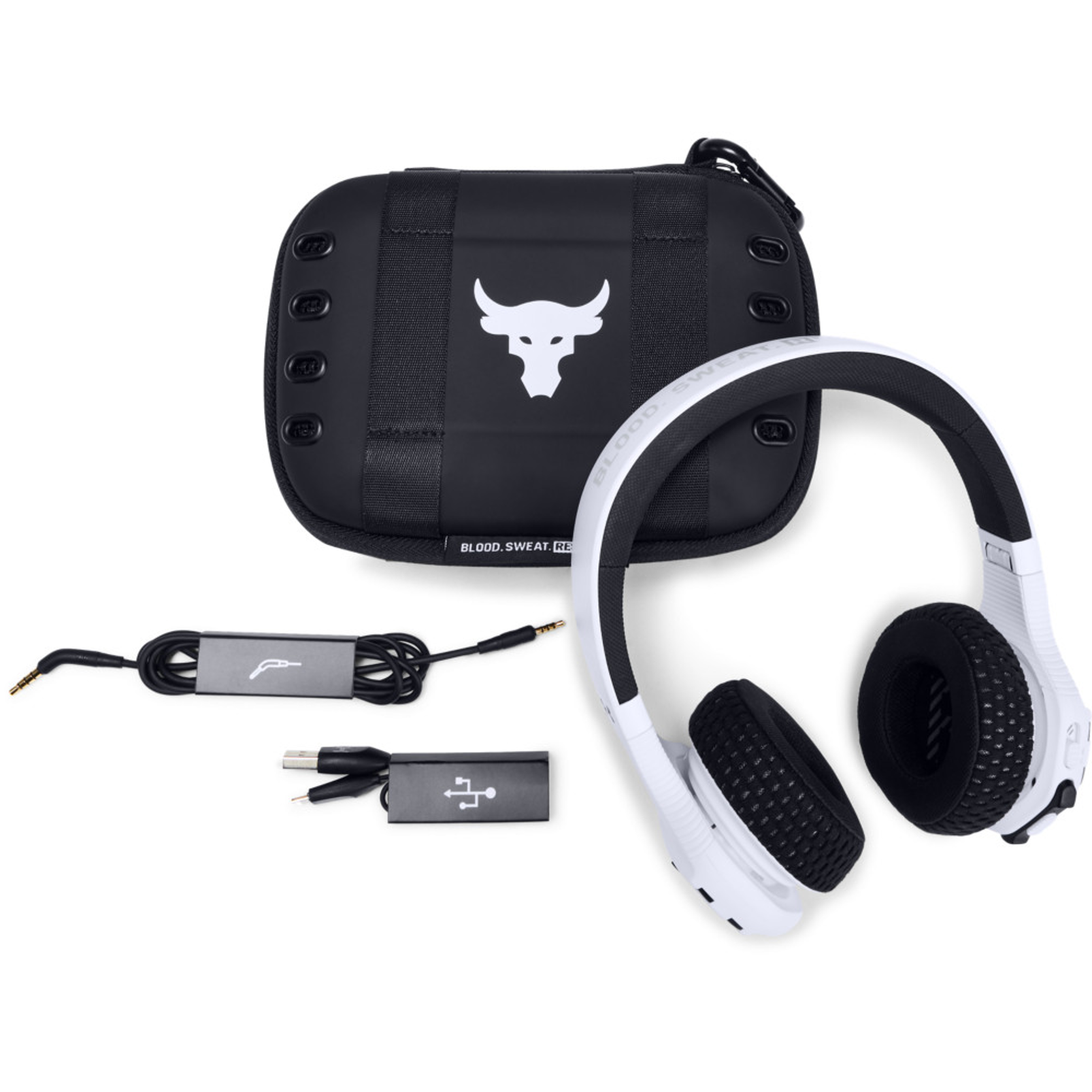 UA Sport Wireless Train Project Rock – Engineered by JBL - White - On-ear sport Headphones - Detailshot 1